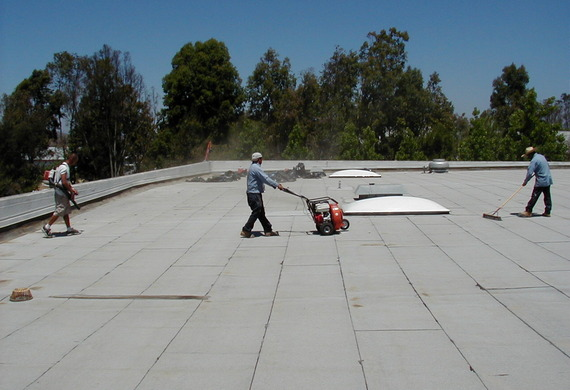 Clean & Prep Existing Roof (Broom & Blow Option)