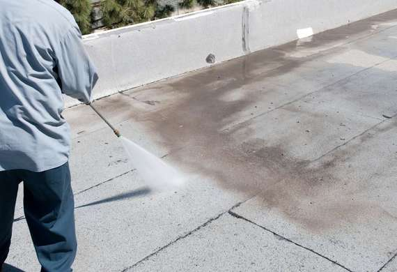 Clean & Prep Existing Roof (Wash Option)