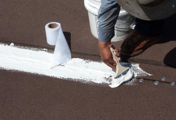 Repair splits, blisters ect. (#800 Elastic Cement)