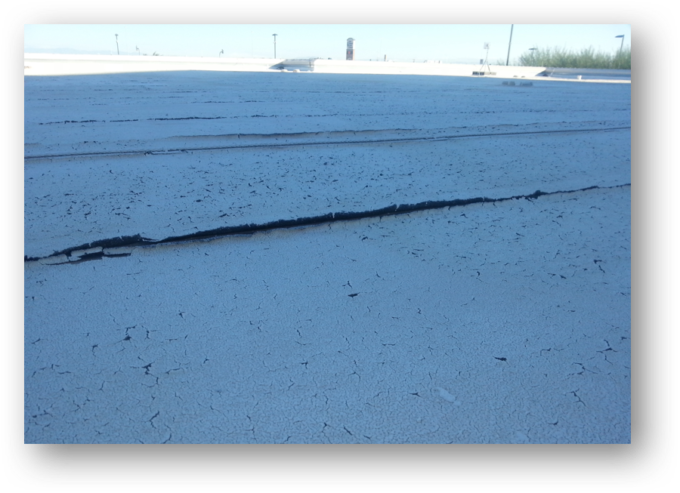 Inspection shows roof assembly with surface cracks