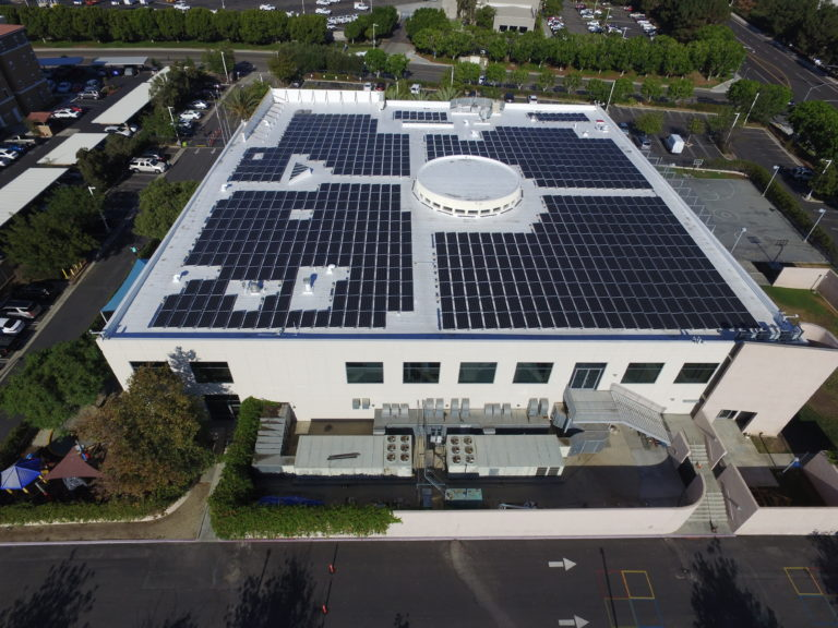 Completed project with solar installation