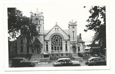 Old Picture of Grace United Methodist Church, Salem llinois