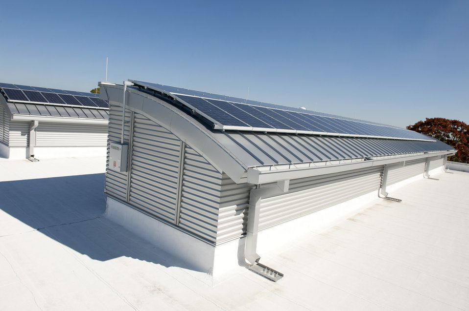 Solar Roof Panel on Commercial Building