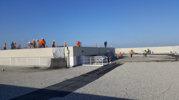 Work begins on rock removal