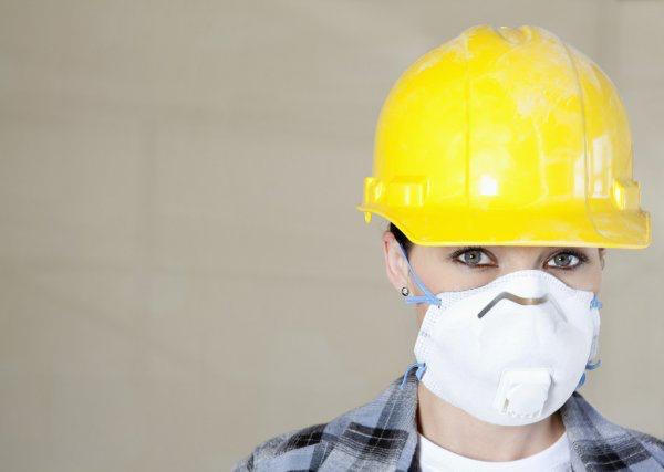 hard hat yellow mask
